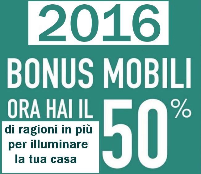 Bonus mobili illuminazione 2016 for Bonus mobili 2016